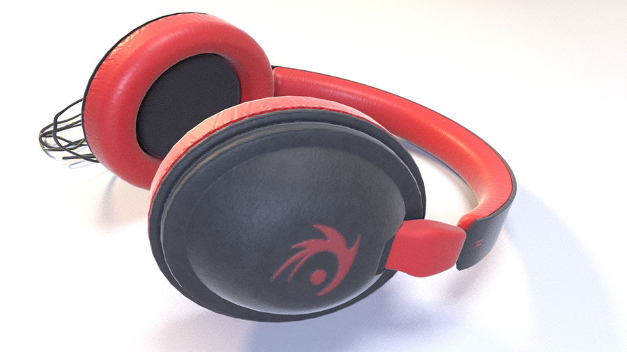 Full size headphones royalty-free 3d model - Preview no. 8
