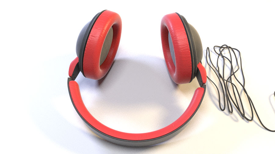 Full size headphones royalty-free 3d model - Preview no. 11