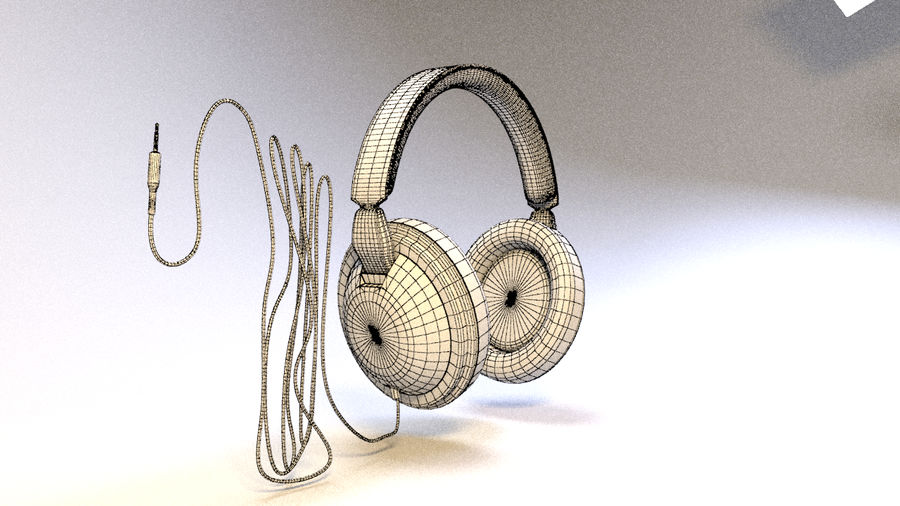 Full size headphones royalty-free 3d model - Preview no. 14