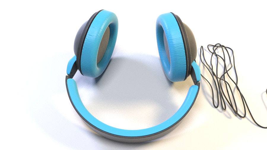 Full size headphones royalty-free 3d model - Preview no. 10