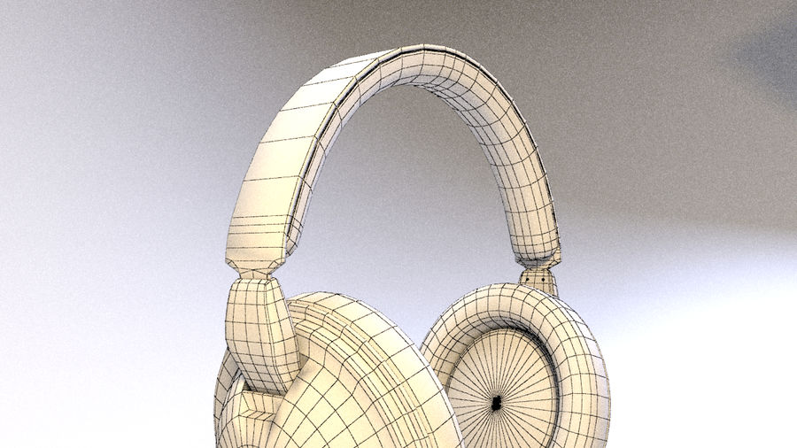 Full size headphones royalty-free 3d model - Preview no. 17