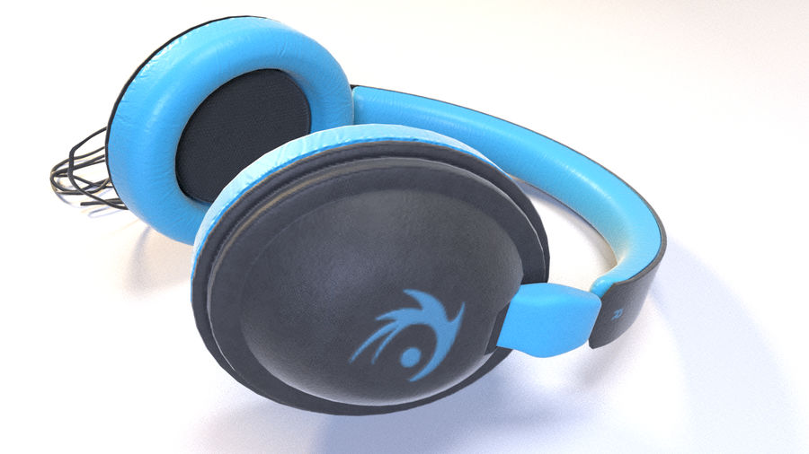 Full size headphones royalty-free 3d model - Preview no. 9