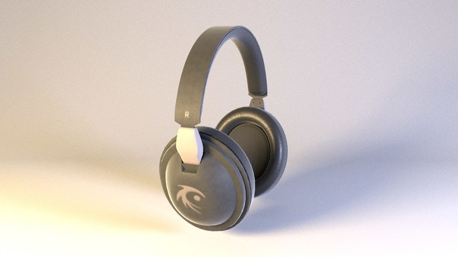 Full size headphones royalty-free 3d model - Preview no. 2