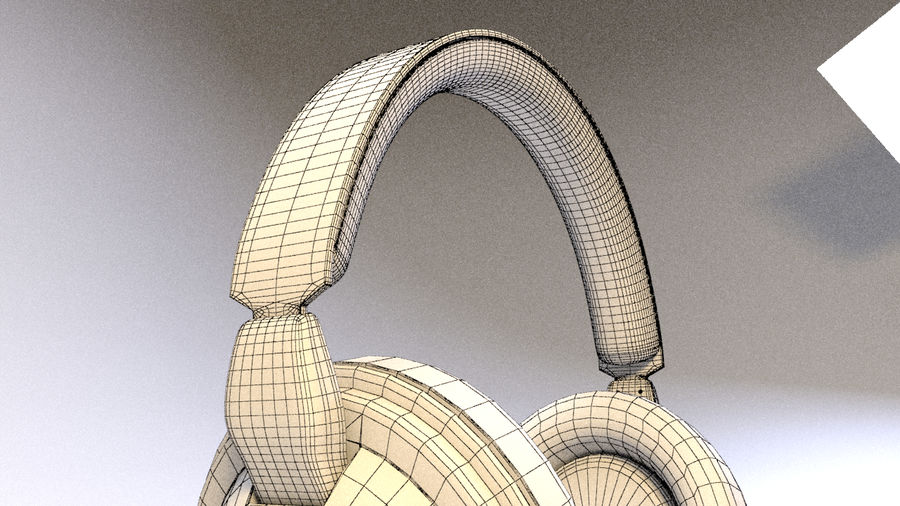 Full size headphones royalty-free 3d model - Preview no. 16
