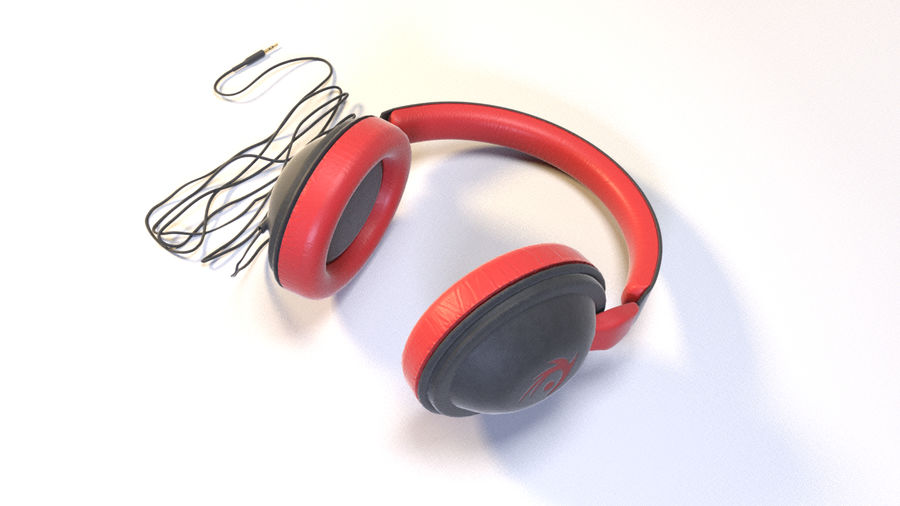Full size headphones royalty-free 3d model - Preview no. 7