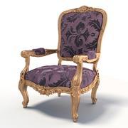 Antique Baroque Chair 3d model