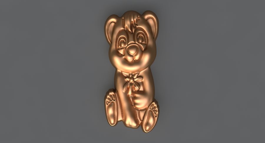 Urso royalty-free 3d model - Preview no. 1