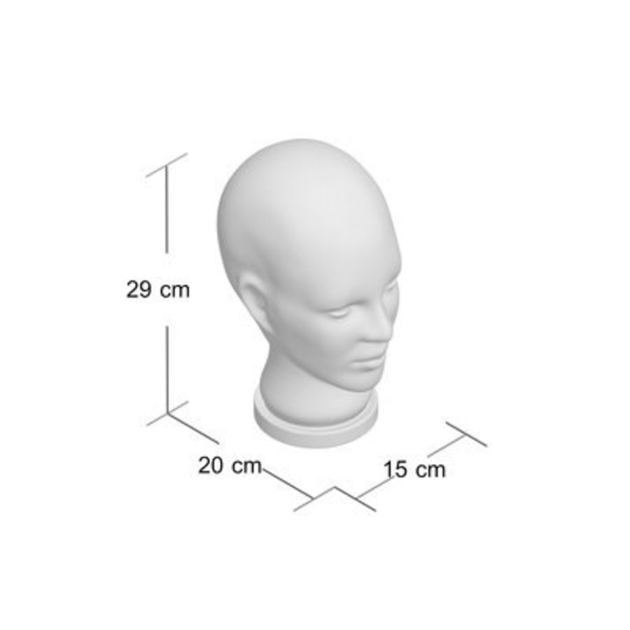 Melancon Glass Head Bust royalty-free 3d model - Preview no. 2