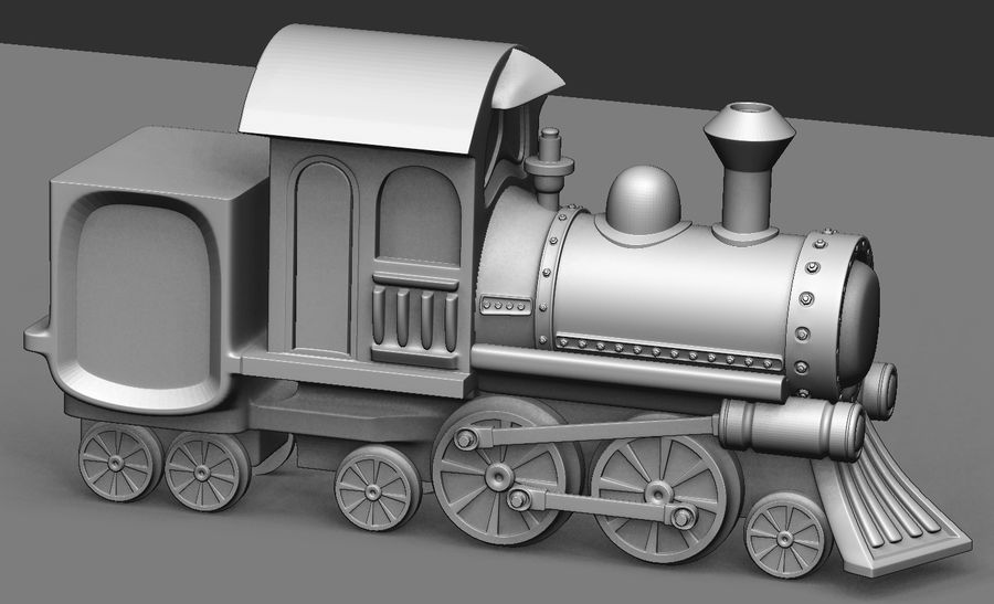 locomotive toy royalty-free 3d model - Preview no. 5