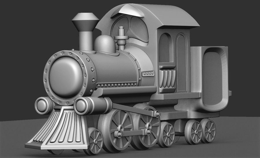 locomotive toy royalty-free 3d model - Preview no. 1