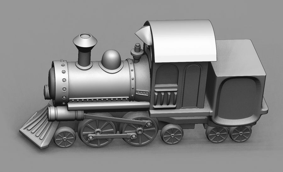 locomotive toy royalty-free 3d model - Preview no. 3