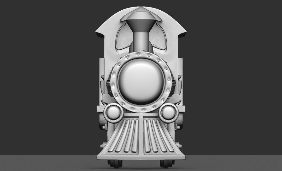 locomotive toy royalty-free 3d model - Preview no. 4