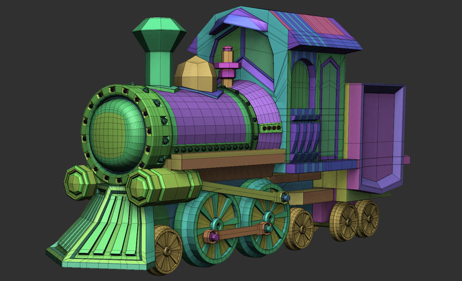 locomotive toy royalty-free 3d model - Preview no. 6