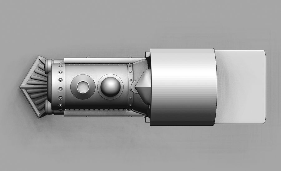 locomotive toy royalty-free 3d model - Preview no. 2