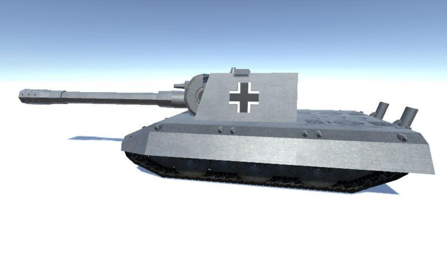 Второй немецкий танк Второй мировой войны Е-100 royalty-free 3d model - Preview no. 2