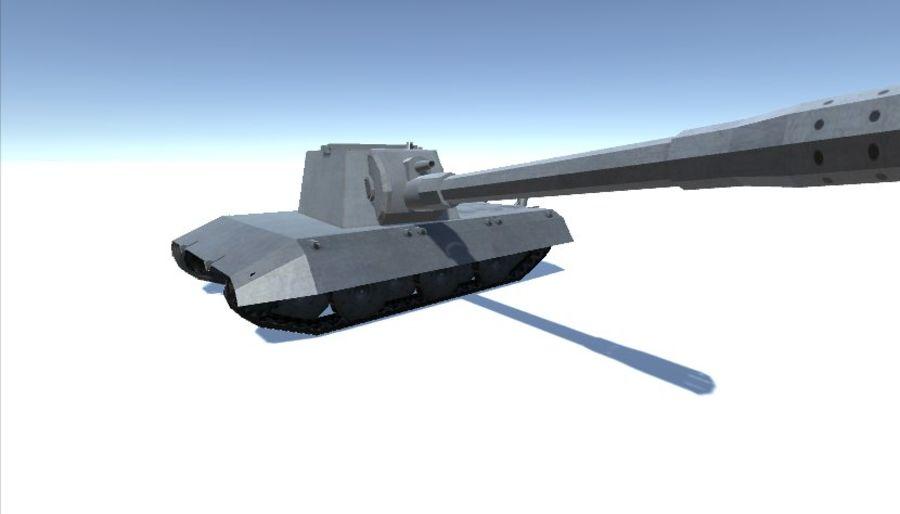 Второй немецкий танк Второй мировой войны Е-100 royalty-free 3d model - Preview no. 4