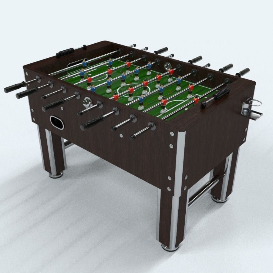 Футбольный стол royalty-free 3d model - Preview no. 1