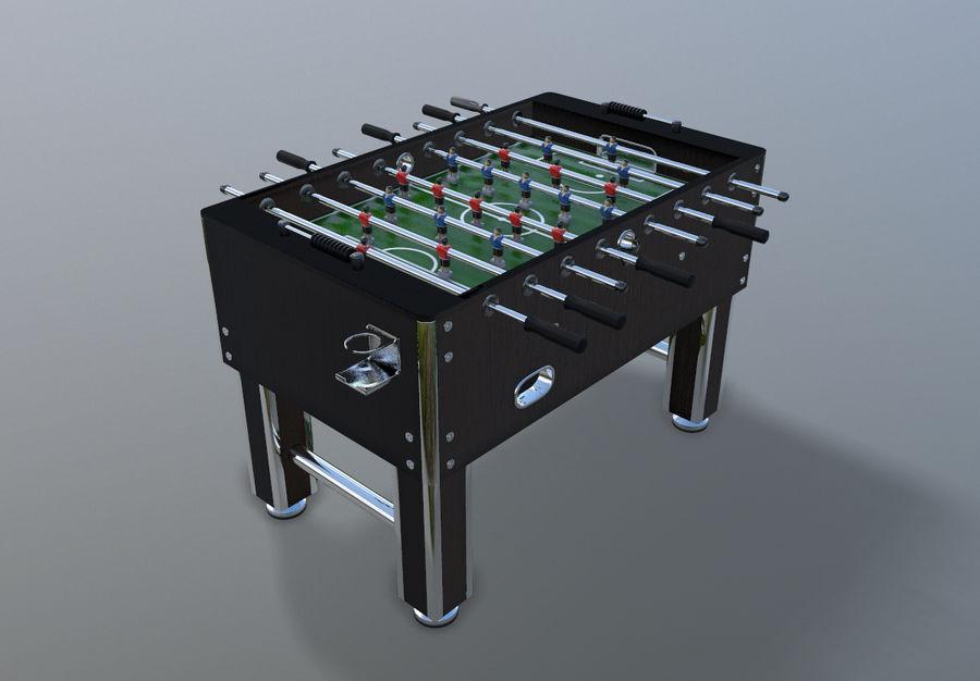 Футбольный стол royalty-free 3d model - Preview no. 9