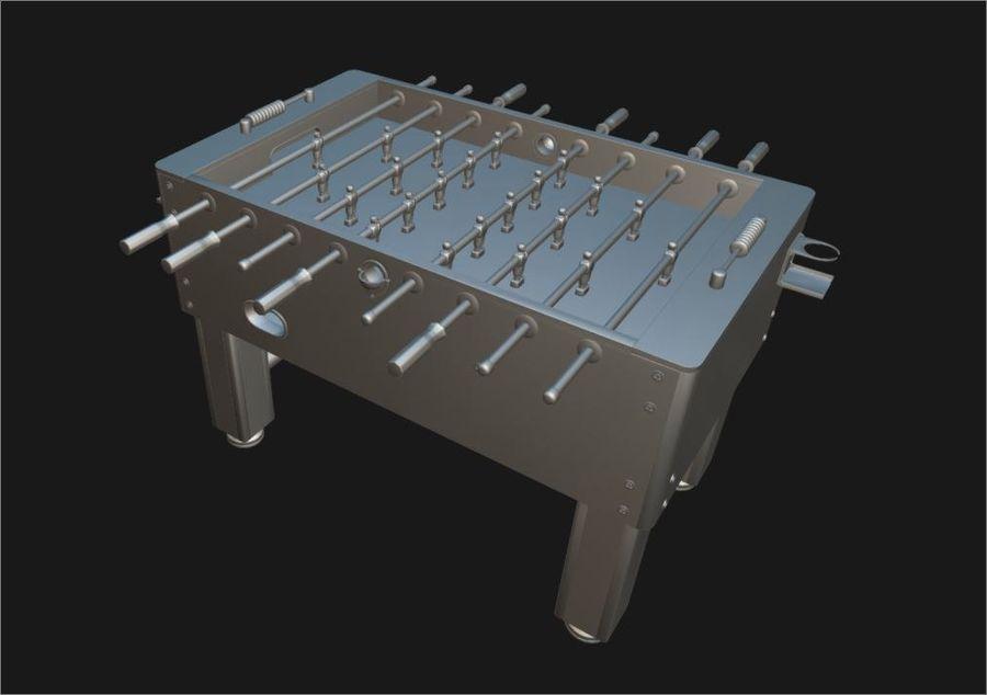 Футбольный стол royalty-free 3d model - Preview no. 6