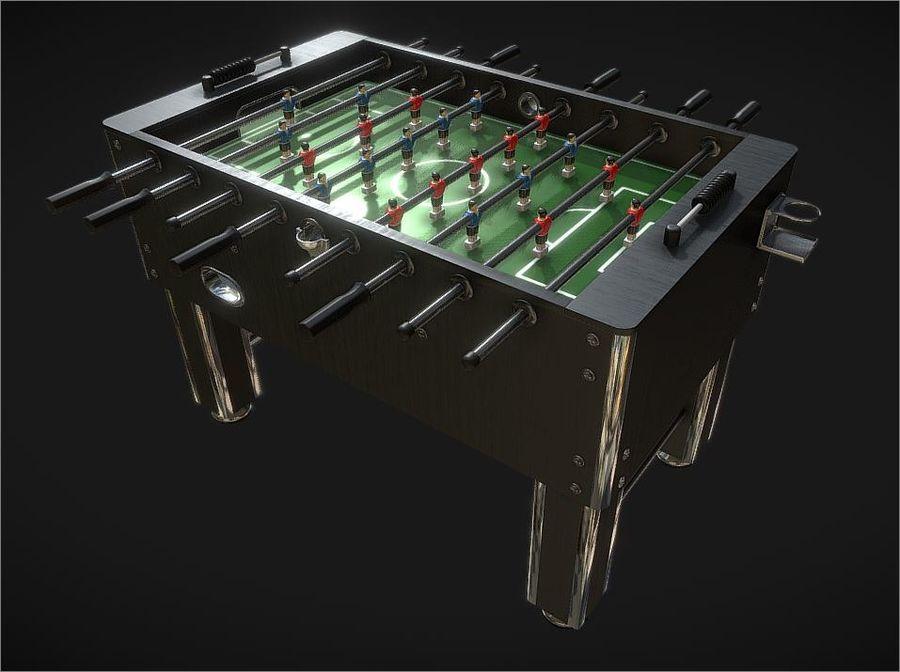 Футбольный стол royalty-free 3d model - Preview no. 5