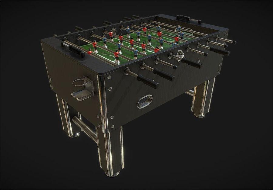 Футбольный стол royalty-free 3d model - Preview no. 4