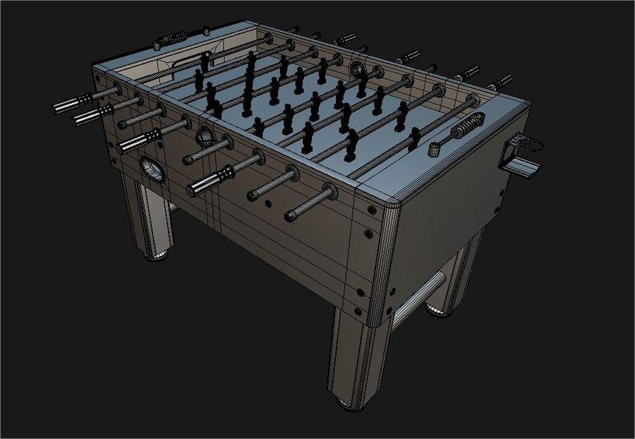 Футбольный стол royalty-free 3d model - Preview no. 7