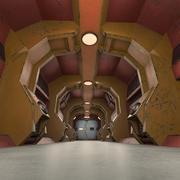 과학 소설 인테리어 질감 3d model