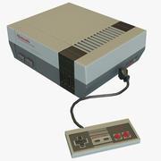Nintendo Eğlence Sistemi NES Düşük Poli 3d model