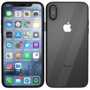 iPhone X 스페이스 그레이 3d model