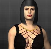 Горячая татуированная леди 3d model