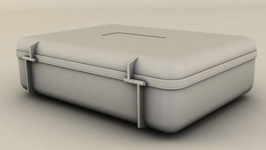 Suitcase royalty-free 3d model - Preview no. 7