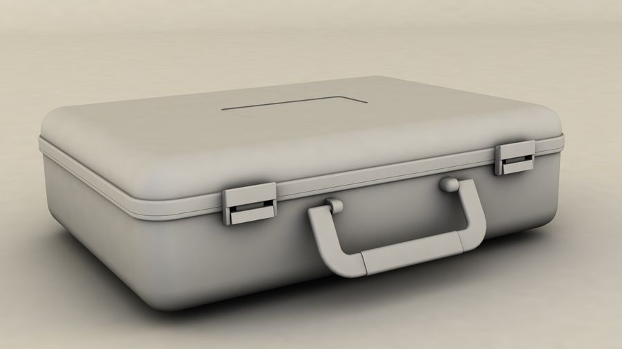 Suitcase royalty-free 3d model - Preview no. 6