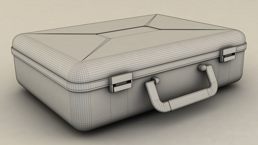 Suitcase royalty-free 3d model - Preview no. 9