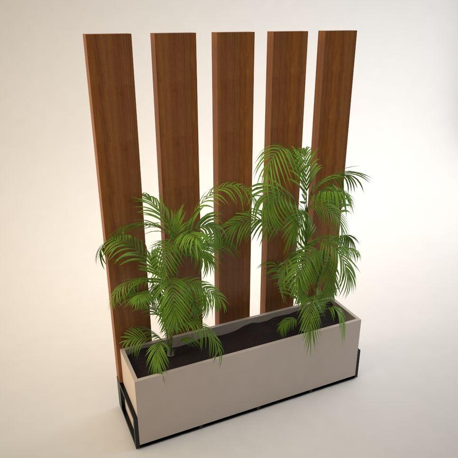 flower pot royalty-free 3d model - Preview no. 4