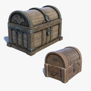 Chest Boxes Set 3d model