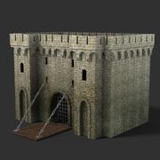 Medieval Gate2 3d model