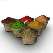 Bags of spices 3d model