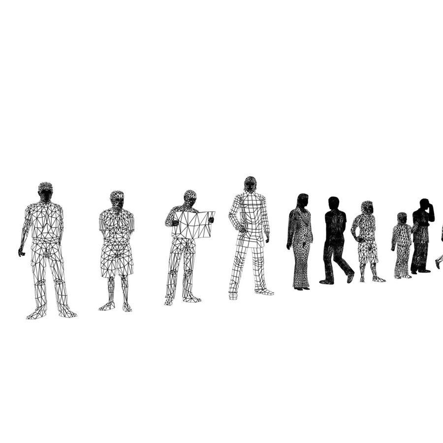 Pacote de Pessoas (55 Pessoas) royalty-free 3d model - Preview no. 10