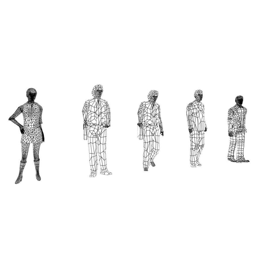 Pacote de Pessoas (55 Pessoas) royalty-free 3d model - Preview no. 13