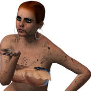 Dirty pretty female 3d model