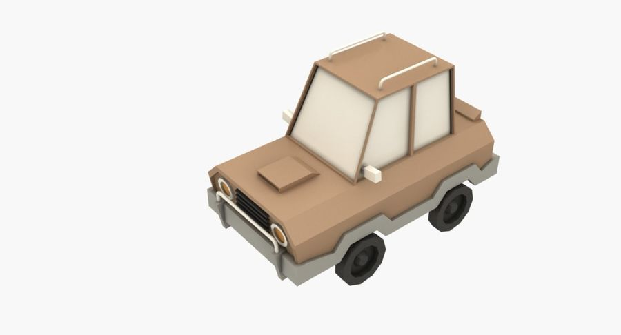 Cartoon Car - 1 royalty-free 3d model - Preview no. 5