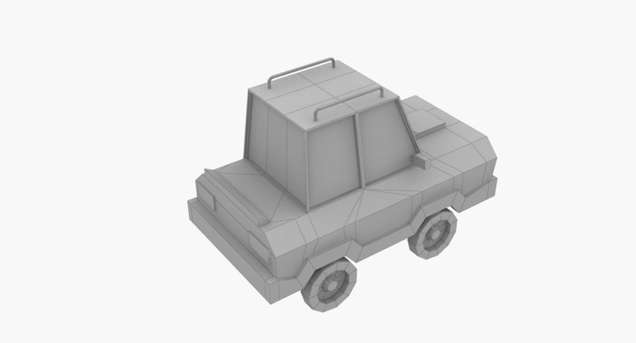 Cartoon Car - 1 royalty-free 3d model - Preview no. 7