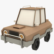 Cartoon Car - 1 3d model