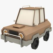 Coche de dibujos animados - 1 modelo 3d