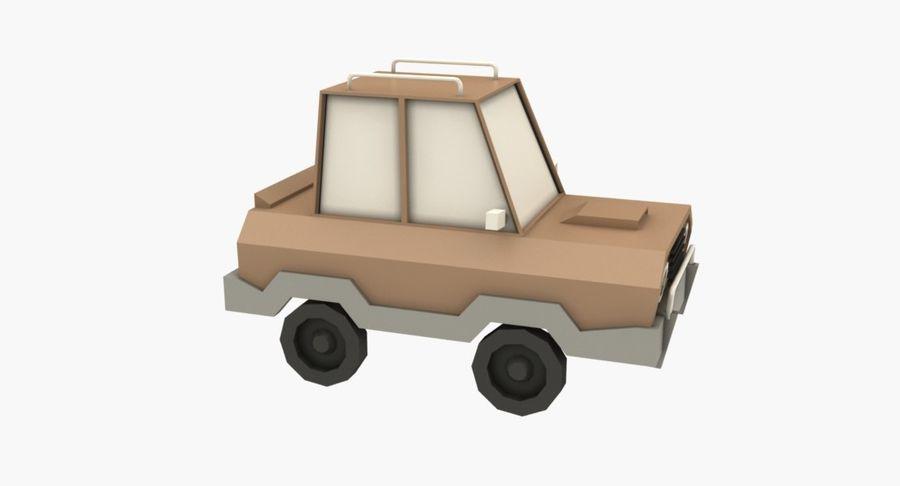 Cartoon Car - 1 royalty-free 3d model - Preview no. 3
