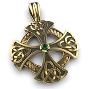 Celtic cross pendant 3d model