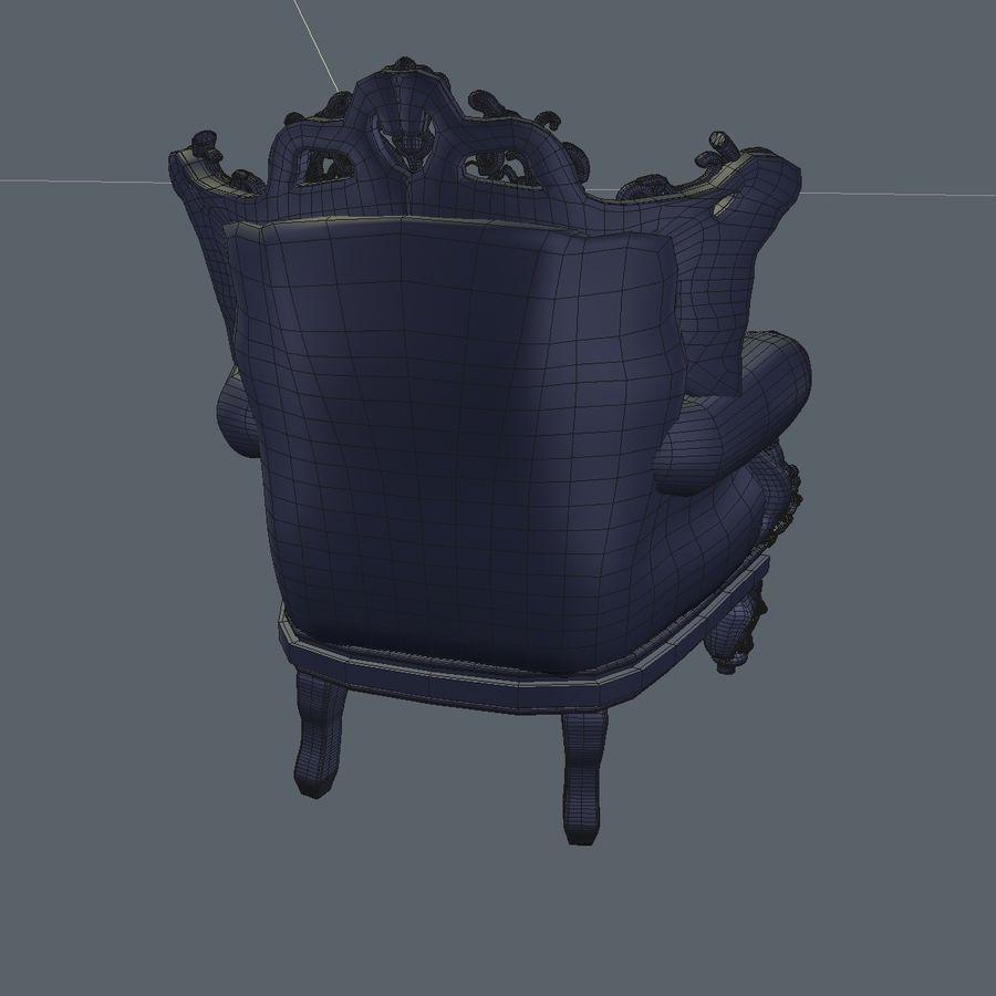 3 Baroque Velvet Armchair royalty-free 3d model - Preview no. 27