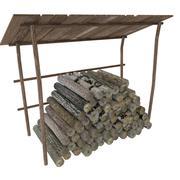 Drewno kominkowe 3d model