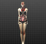 Zombie sexy 3d model