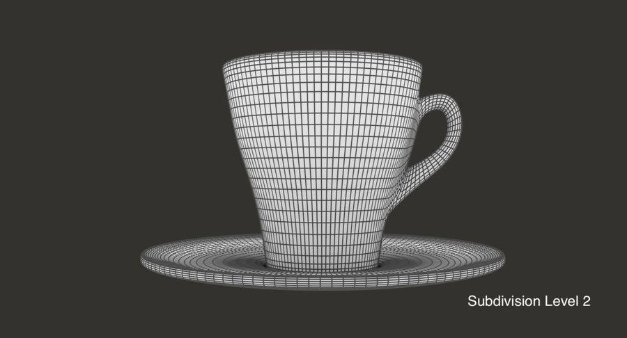 Taza de café royalty-free modelo 3d - Preview no. 10